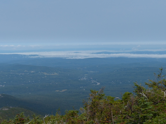 Looking into Vermont with low clouds in the vallies