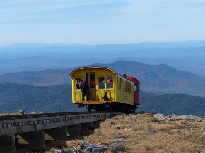 Cog train on the way up